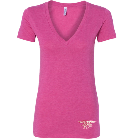 Ladies Trident Berry Deep V-neck Tee
