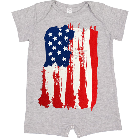 American Flag with Trident Infant Romper