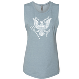Ladies Muscle Tank with Presidential Eagle