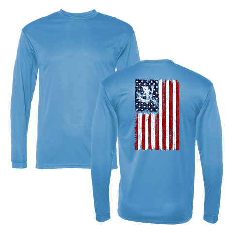 C2 Sport Bone Frog Flag Performance Long Sleeve Tshirt