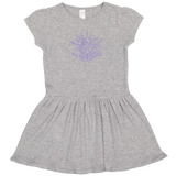 Rabbit Skins Infant Dress with Trident Scroll