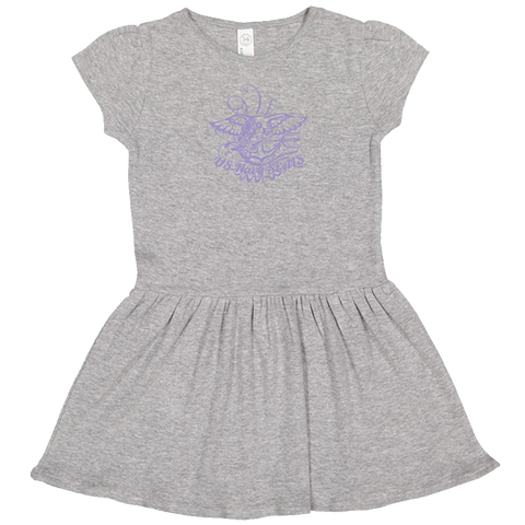 Rabbit Skins Toddler Dress with Trident Scroll