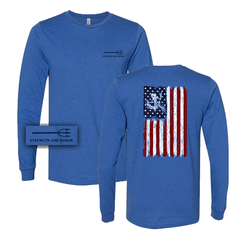 Bone Frog American Flag Long Sleeve T-Shirt