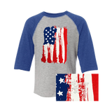YOUTH Trident American Flag Baseball T-shirt