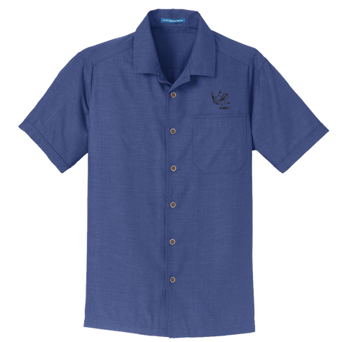 Men's Bone Frog Textured Camp Shirt