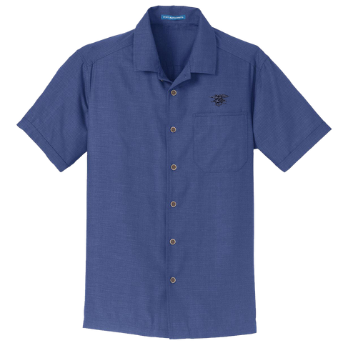 Men's Trident Textured Camp Shirt