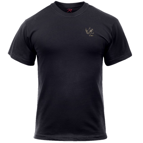 Rothco Bone Frog Black Military Tshirt