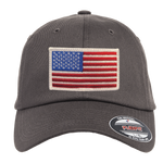 USA Flag FlexFit Hat with Subdued Trident