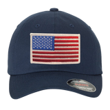 USA Flag FlexFit Hat with Trident