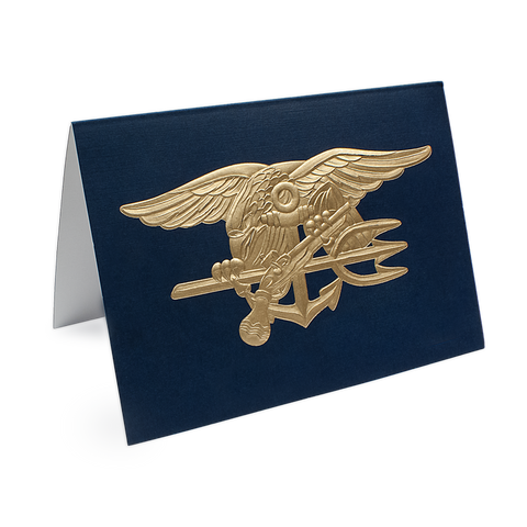 NAVY SEAL Trident Gold Embossed Note Cards Set - UDT-SEAL Store