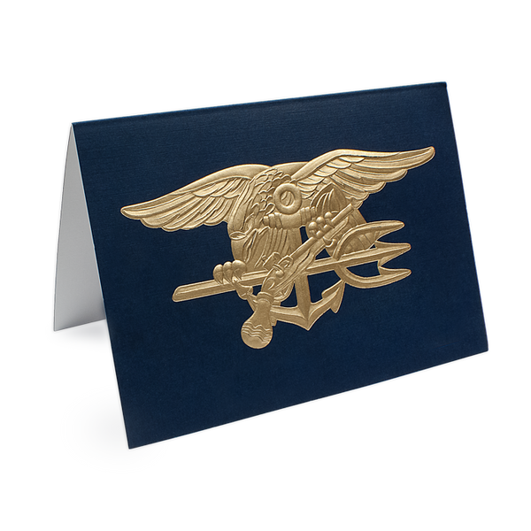 Navy Seal Trident Gold Embossed Note Cards Set Udt Seal