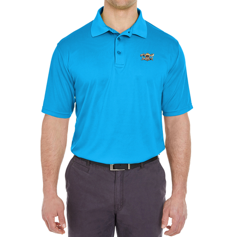 Men's SWCC Jacquard Stripe Blue Polo Shirt