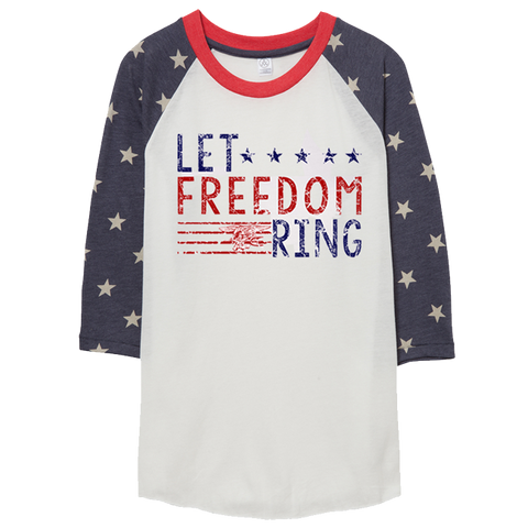 Let Freedom Ring Baseball Stars Raglan Sleeve