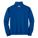Trident Quarter Zip Cadet Collar Sweatshirt