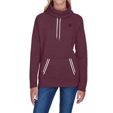 Ladies Trident Cowl Neck Sweatshirt