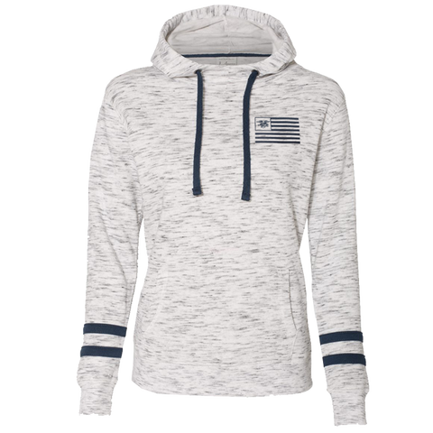 Ladies Trident Flag Fleece Hooded Sweatshirt