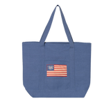Pigment Dyed Premium XL Boater Tote with Trident Flag