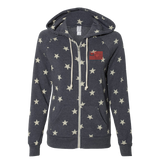 Ladies Star Hooded Full-Zip Sweatshirt