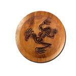 Bone Frog Wood Carving in Circle Dish - UDT-SEAL Store