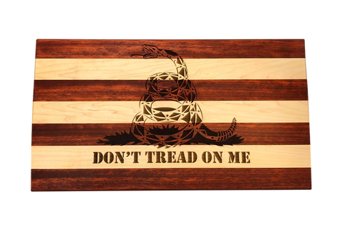 Don't Tread on Me Wooden Carving