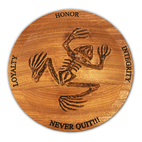 Bone Frog Never Quit Wooden Dish - UDT-SEAL Store  - 1