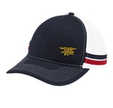 Trident Two-Stripe Snapback Trucker Cap