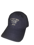 Navy SEAL Dad Ball Cap with Flag