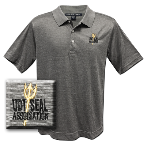 Men's Association Jet Pique Gray Heather Polo Shirt