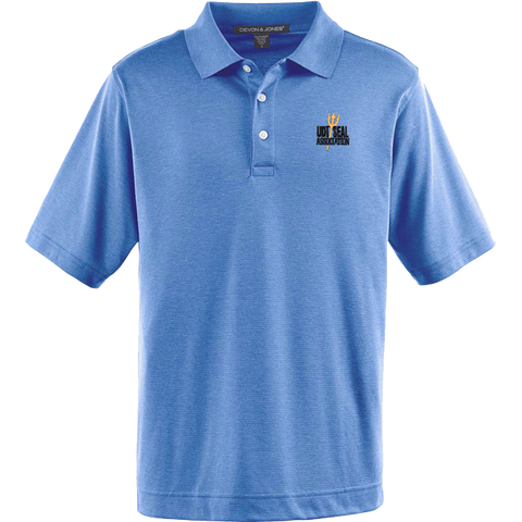 Men's Association Jet Pique French Blue Heather Polo Shirt