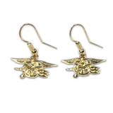 14K Yellow Gold Trident French (Open) Dangle Earrings - UDT-SEAL Store  - 2