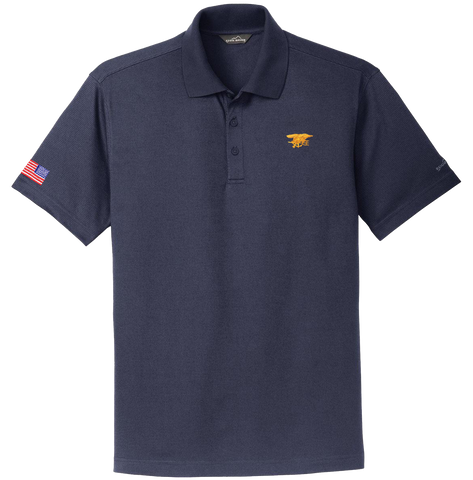 Eddie Bauer Trident Polo Shirt with American Flag