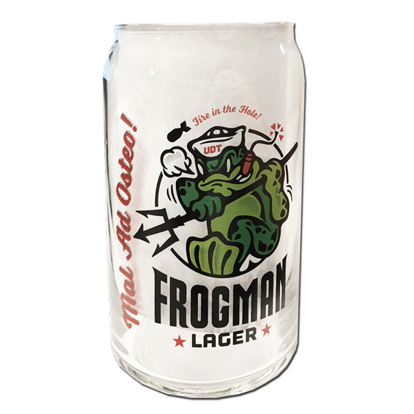 Frogman Lager Beer Can Glass Udt Seal Store