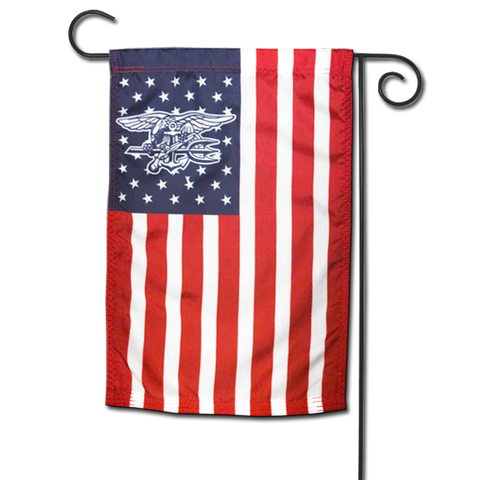 American Flag with Navy SEAL Trident in Stars - UDT-SEAL Store  - 1