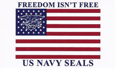 Decal/Sticker Freedom Isn't Free Flag with Trident - UDT-SEAL Store