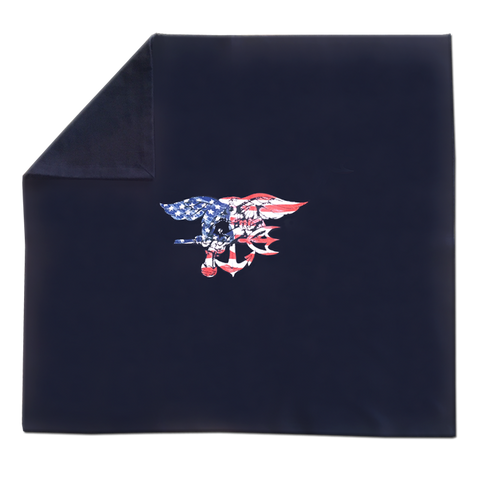 Trident Stadium Fleece Blanket Navy Blue