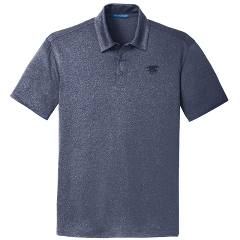 Men's Trident Heather Navy Polo