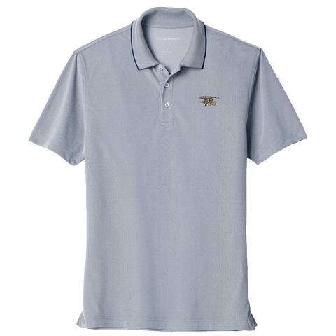 Trident Navy Poly Oxford Pique Polo