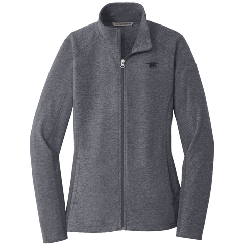 Ladies Trident Microfleece Full Zip Navy Jacket