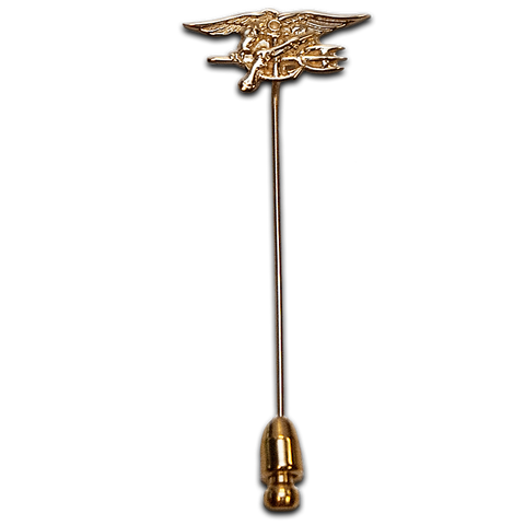 14K Yellow Gold Trident Lapel Pin - UDT-SEAL Store