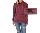 Maroon Classic Hoodie with Maroon Trident