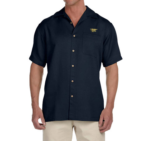 Men's Gold Trident Bahama Camp Shirt