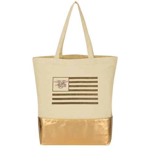 Trident Flag Cotton Tote Bag