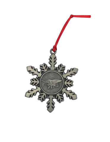 Trident Pewter Snowflake Ornament
