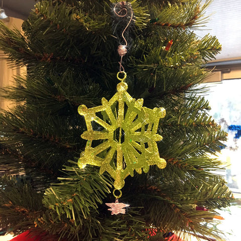 Green Glitter Ornament With Trident - UDT-SEAL Store  - 1