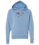 Toddler Light Blue Trident/Flag Hooded Sweatshirt