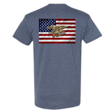 American Flag with SEAL Trident Tshirt