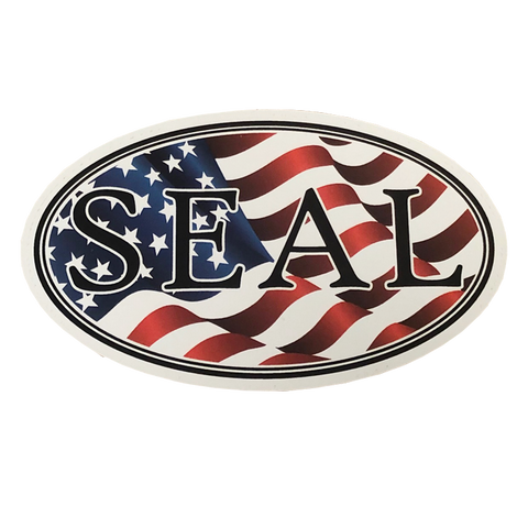 SEAL Oval Patriotic Decal
