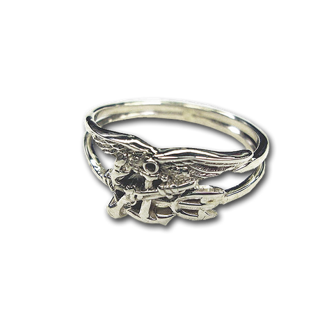 Sterling Silver Ladies Trident Ring - UDT-SEAL Store
