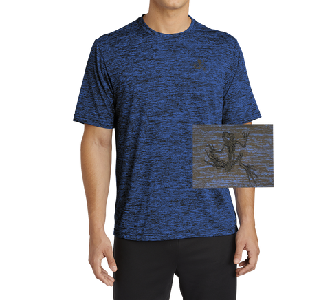 Sport-Tek PosiCharge Royal-Black Electric Tee with Bone Frog