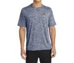 Sport-Tek PosiCharge Navy Electric Tee with Gold Trident